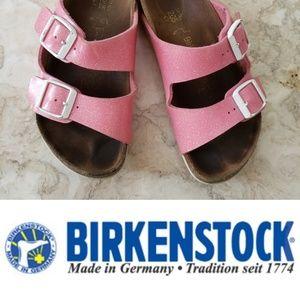 Birkenstock Pink Glitter Girls Sandals